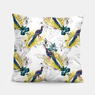 Thumbnail image of Pheasant animals birds in floral pattern Almohada, Live Heroes