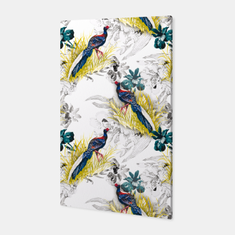 Thumbnail image of Pheasant animals birds in floral pattern Canvas, Live Heroes