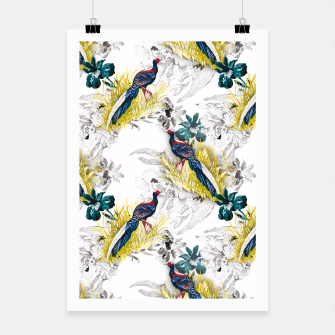 Thumbnail image of Pheasant animals birds in floral pattern Cartel, Live Heroes