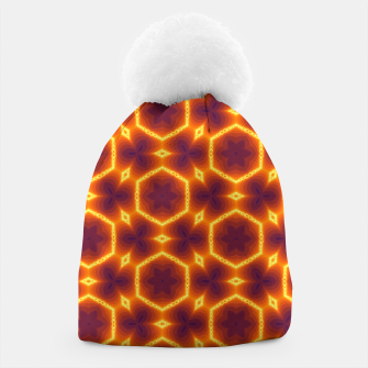 Miniatur Vibrant Orange Patterned Beanie, Live Heroes