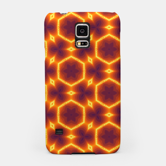 Miniatur Vibrant Orange Patterned Samsung Case, Live Heroes