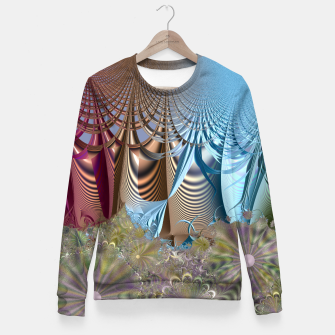 Thumbnail image of Seasons and elements - Fractal design Fitted Waist Sweater, Live Heroes