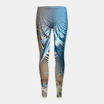 Miniaturka Seasons and elements - Fractal design Girl's Leggings, Live Heroes