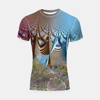 Miniaturka Seasons and elements - Fractal design Shortsleeve Rashguard, Live Heroes