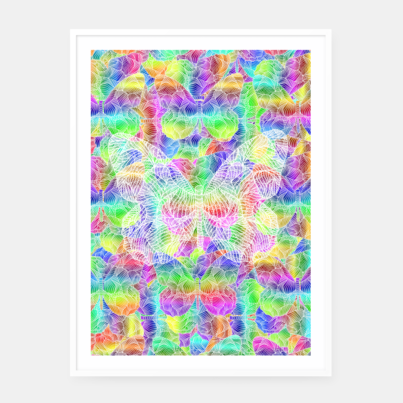 Image of butterfly Framed poster - Live Heroes