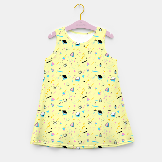 Miniaturka That Funky Creamy Flow Girl's Summer Dress, Live Heroes