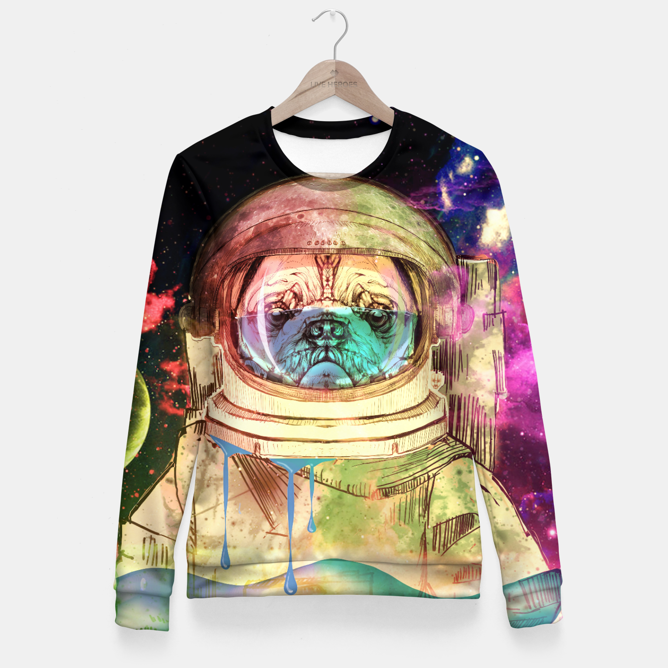 Foto Astronault Pug COLOR Fitted Waist Sweater - Live Heroes