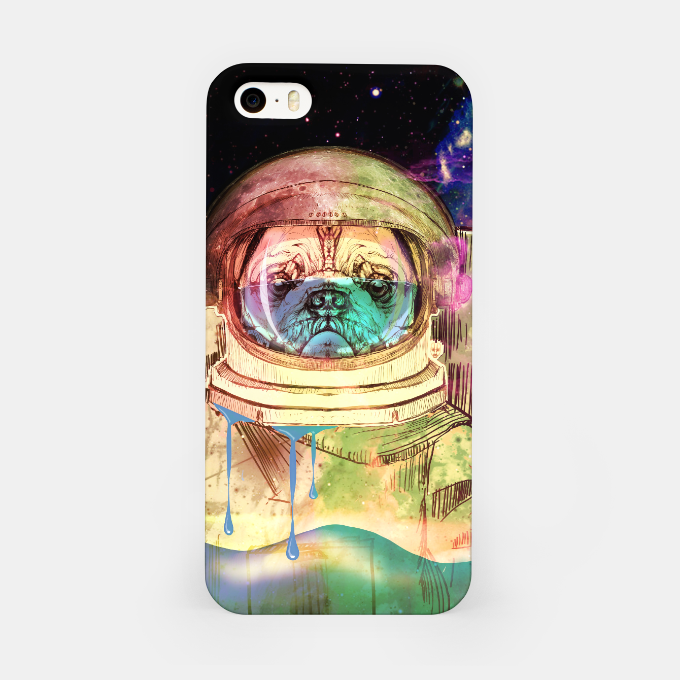 Foto Astronault Pug COLOR iPhone Case - Live Heroes