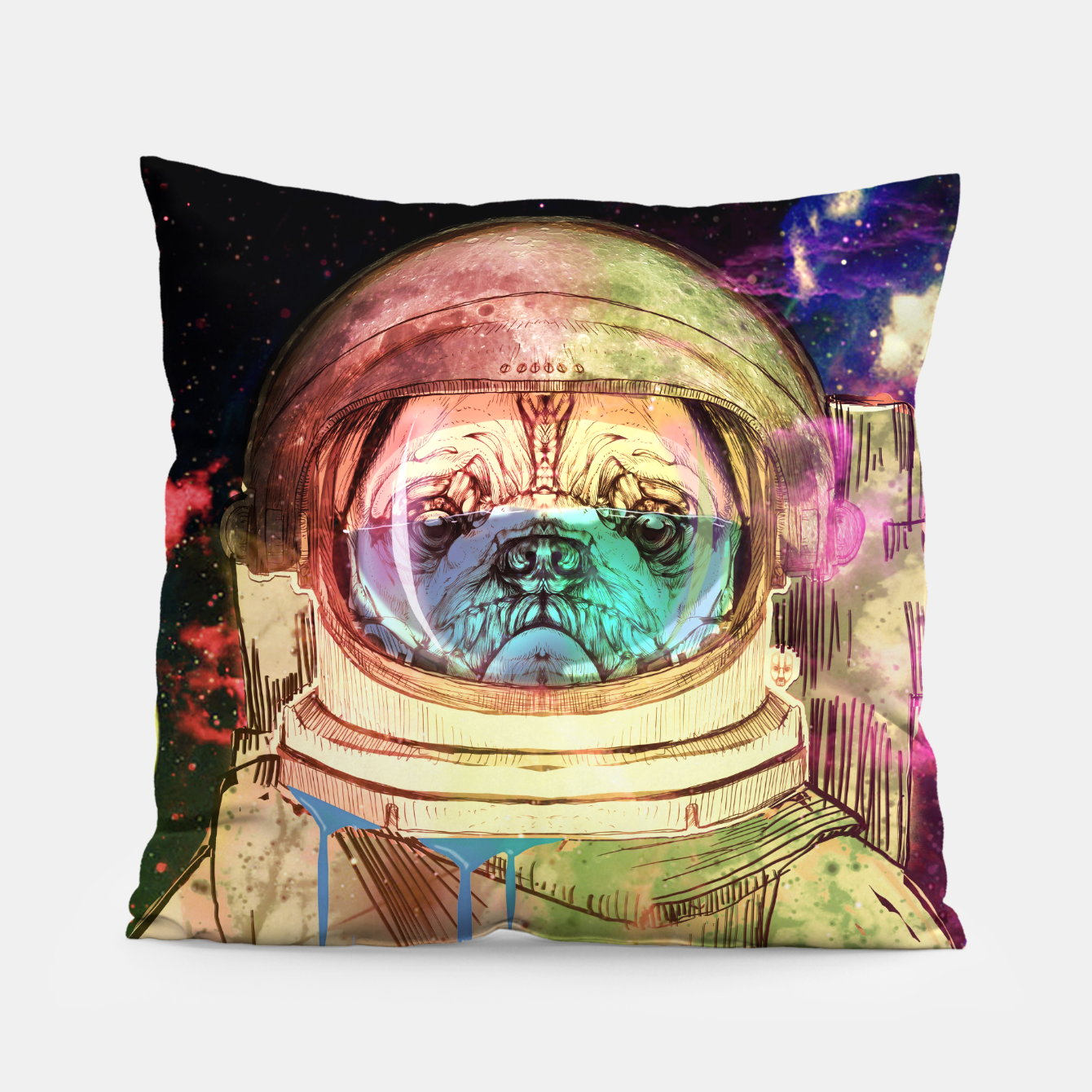 Foto Astronault Pug COLOR Pillow - Live Heroes
