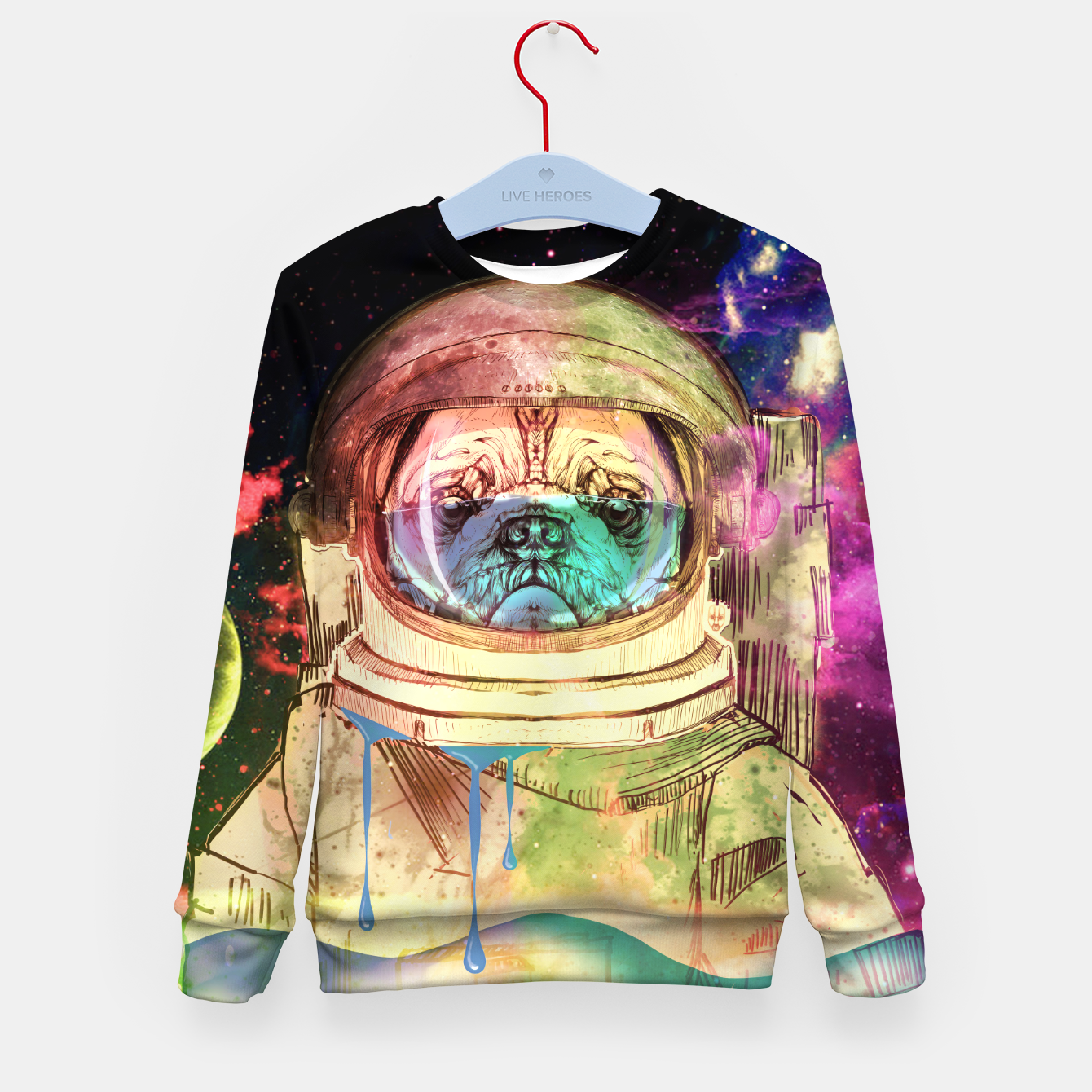 Foto Astronault Pug COLOR Kid's Sweater - Live Heroes