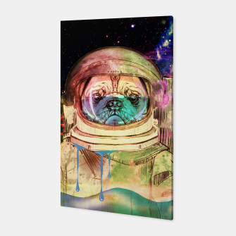 Astronault Pug COLOR Canvas Bild der Miniatur