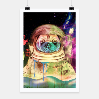 Miniatur Astronault Pug COLOR Poster, Live Heroes