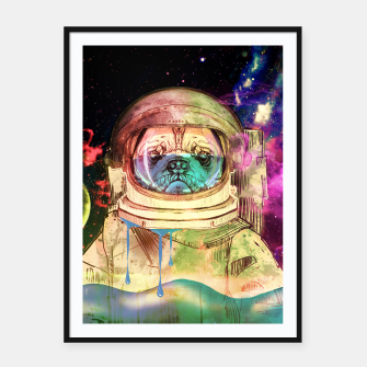 Thumbnail image of Astronault Pug COLOR Framed poster, Live Heroes