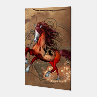 Miniatur Awesome horse with skull Canvas, Live Heroes