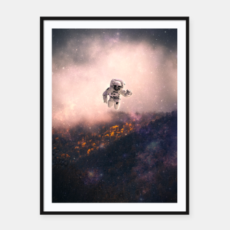 Thumbnail image of Heroes in Space Framed poster, Live Heroes
