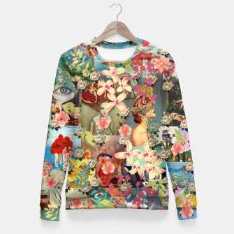 Miniatur Collage XXXI Fitted Waist Sweater, Live Heroes
