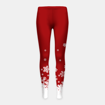Miniaturka Xmas Snow 02 Girl's Leggings, Live Heroes