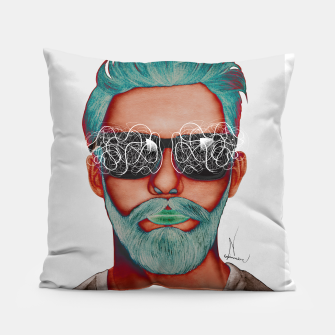 Thumbnail image of Visionary effect Pillow, Live Heroes
