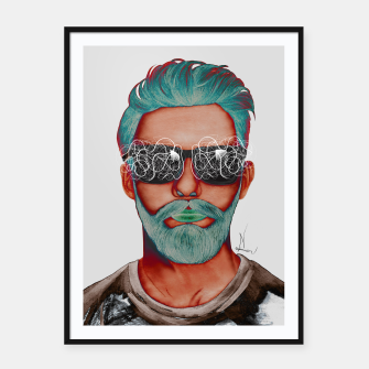 Thumbnail image of Visionary effect Framed poster, Live Heroes