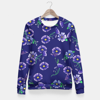 Thumbnail image of Purple Flowers Fitted Waist Sweater, Live Heroes