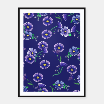 Thumbnail image of Purple Flowers Framed poster, Live Heroes