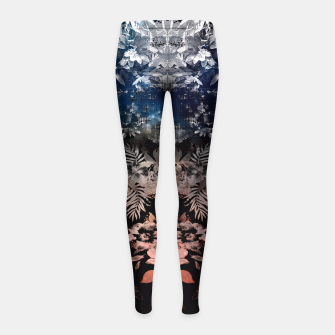 Thumbnail image of DARK GARDEN Girl's Leggings, Live Heroes