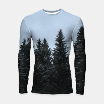 Thumbnail image of Pine trees and snow Longsleeve Rashguard , Live Heroes