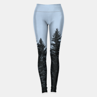 Thumbnail image of Pine trees and snow Leggings, Live Heroes