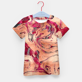 Thumbnail image of RoseGold Marble Kid's T-shirt, Live Heroes