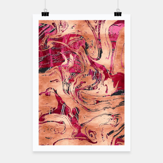Thumbnail image of RoseGold Marble Poster, Live Heroes