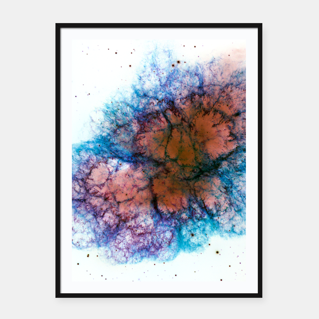 Inverted Crab Nebula Galaxy Art Framed Poster Live Heroes