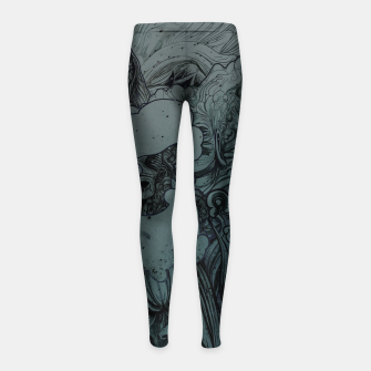 Thumbnail image of Mix Night Girl's Leggings, Live Heroes