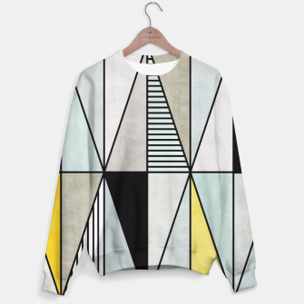 Thumbnail image of Colorful Concrete Triangles - Yellow, Blue, Grey Sweater, Live Heroes