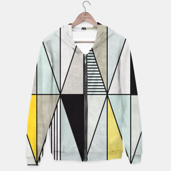 Thumbnail image of Colorful Concrete Triangles - Yellow, Blue, Grey Hoodie, Live Heroes