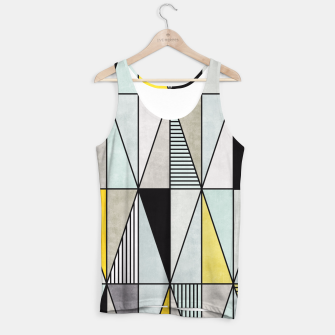 Thumbnail image of Colorful Concrete Triangles - Yellow, Blue, Grey Tank Top, Live Heroes