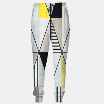 Thumbnail image of Colorful Concrete Triangles - Yellow, Blue, Grey Sweatpants, Live Heroes