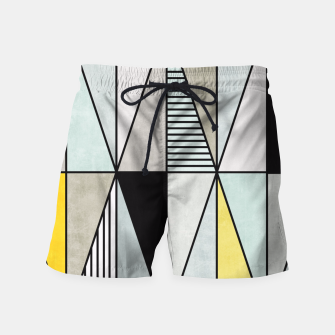 Thumbnail image of Colorful Concrete Triangles - Yellow, Blue, Grey Swim Shorts, Live Heroes