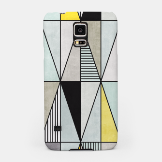 Thumbnail image of Colorful Concrete Triangles - Yellow, Blue, Grey Samsung Case, Live Heroes