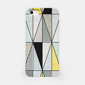 Thumbnail image of Colorful Concrete Triangles - Yellow, Blue, Grey iPhone Case, Live Heroes