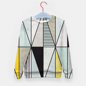 Thumbnail image of Colorful Concrete Triangles - Yellow, Blue, Grey Kid's Sweater, Live Heroes