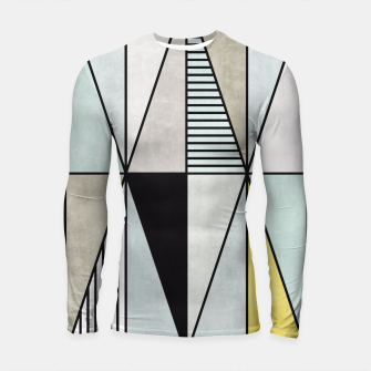 Thumbnail image of Colorful Concrete Triangles - Yellow, Blue, Grey Longsleeve Rashguard , Live Heroes