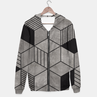 Thumbnail image of Random Concrete Cubes Hoodie, Live Heroes