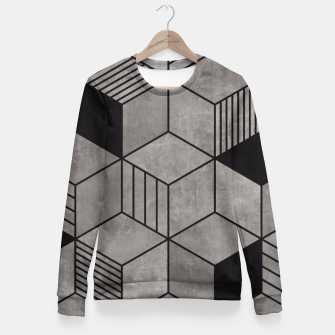 Thumbnail image of Random Concrete Cubes Fitted Waist Sweater, Live Heroes