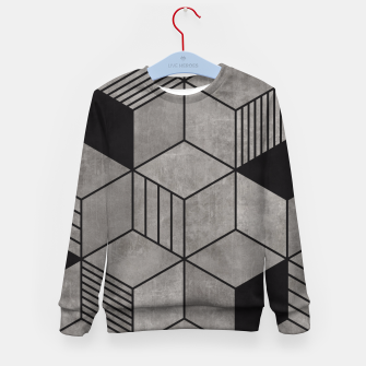 Thumbnail image of Random Concrete Cubes Kid's Sweater, Live Heroes