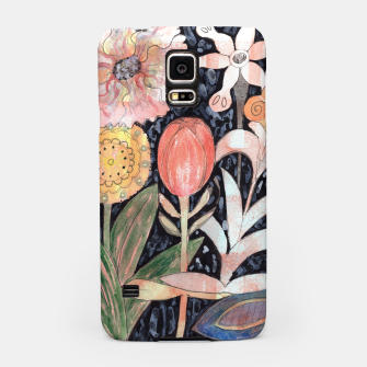 Miniatur Mixed Flowers with Tulip on Black  Samsung Case, Live Heroes