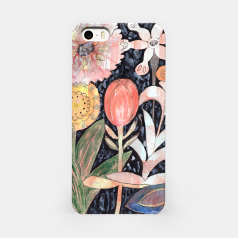 Miniatur Mixed Flowers with Tulip on Black  iPhone Case, Live Heroes