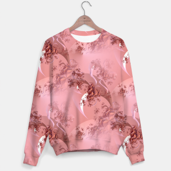 Romantic rose tree fractals pattern Sweater thumbnail image