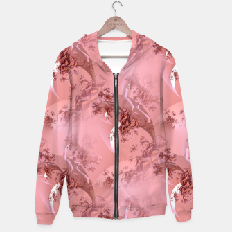 Romantic rose tree fractals pattern Hoodie thumbnail image