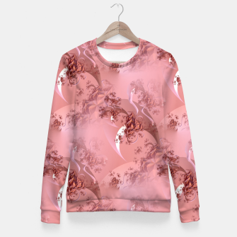 Romantic rose tree fractals pattern Fitted Waist Sweater thumbnail image