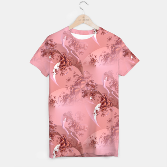Thumbnail image of Romantic rose tree fractals pattern T-shirt, Live Heroes